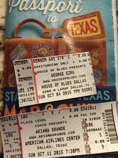 concerts Dallas October 2015
