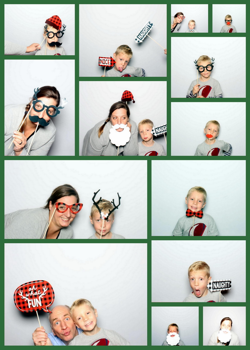xmas photobooth collage