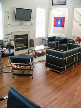 Living Room Townhome Raleigh