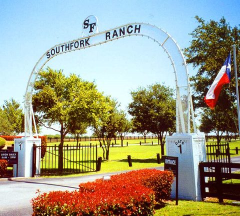 southfork ranch entrance flag