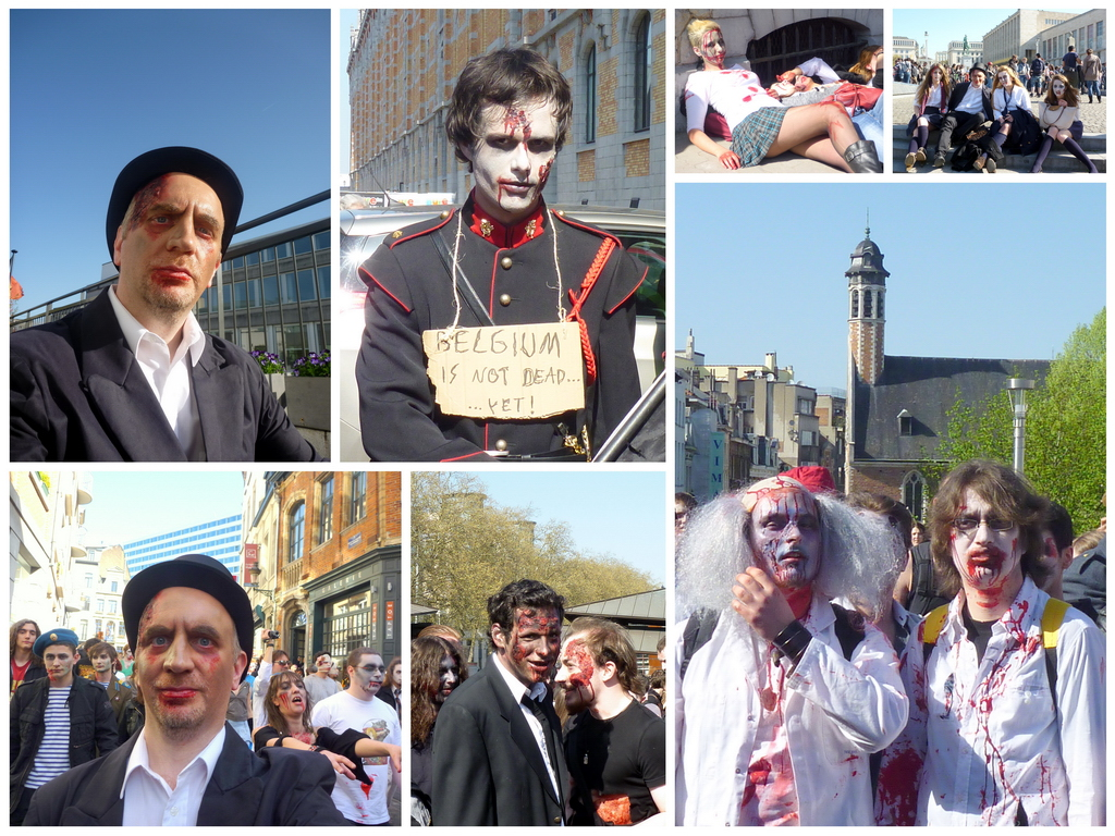zombie day brussels 2011 collage